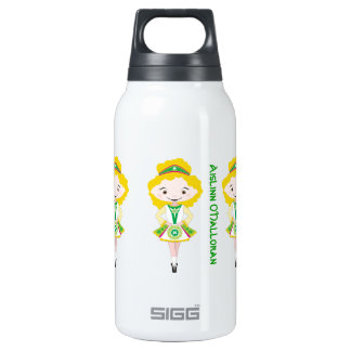 Personalized name irish dancing troupe blonde hair insulated water bottle