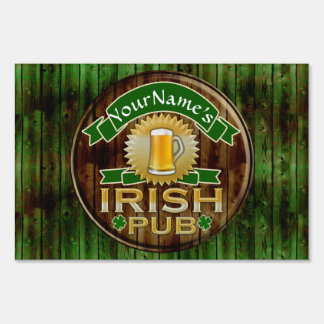 Personalized Name Irish Pub Sign St. Patrick's Day