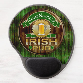 Personalized Name Irish Pub Sign St. Patrick's Day Gel Mouse Pad
