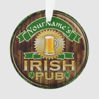 Personalized Name Irish Pub Sign St. Patrick's Day Ornament