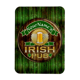 Personalized Name Irish Pub Sign St. Patrick's Day Rectangle Magnet