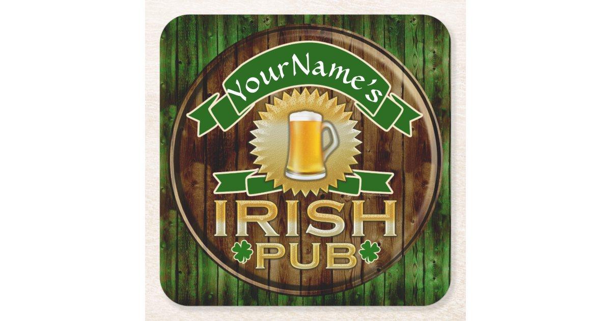 Personalized Name Irish Pub Sign St Patrick S Day Square