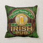Personalized Name Irish Pub Sign St. Patrick's Day Throw Pillow