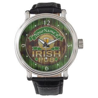 Personalized Name Irish Pub Sign St. Patrick's Day Watch