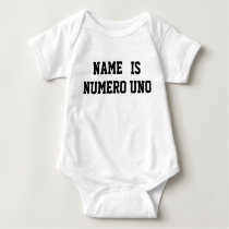 Personalized Name Is Numero Uno Baby Bodysuit