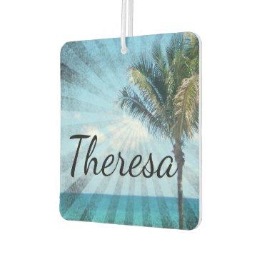 Beach Themed Personalized Name Island Breeze Tropical Beach Car Air Freshener