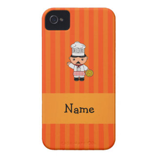 Personalized name italian chef orange stripes blackberry bold case