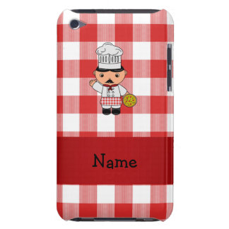 Personalized name italian chef red white checkers iPod Case-Mate case