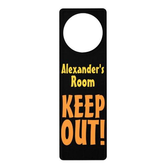 Design Your Own Door Hangers: Personalized Name Keep Out Door Hanger Room Sign