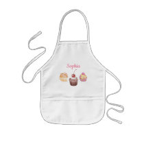 Personalized Name Kids Cupcake Baking Little Chef Kids' Apron