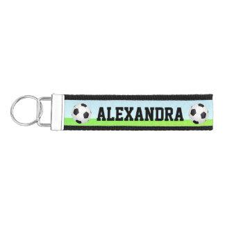 Personalized Name Kid's Sports Soccer Wrist Keychain