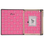 Personalized name killer whale pink diamonds iPad folio case