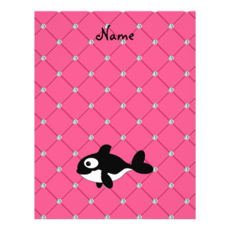 Personalized name killer whale pink diamonds full color flyer