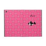 Personalized name killer whale pink diamonds iPad mini covers