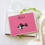 Personalized name killer whale pink diamonds jumbo cookie