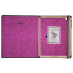 Personalized name killer whale pink glitter iPad cover
