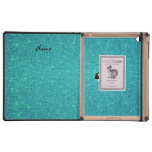 Personalized name killer whale turquoise glitter cases for iPad