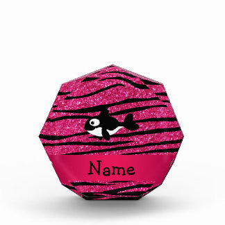 Personalized name killer whale zebra stripes award