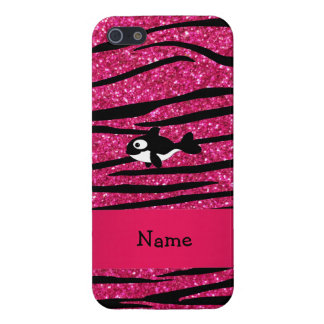 Personalized name killer whale zebra stripes cases for iPhone 5
