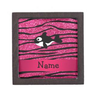 Personalized name killer whale zebra stripes premium jewelry boxes