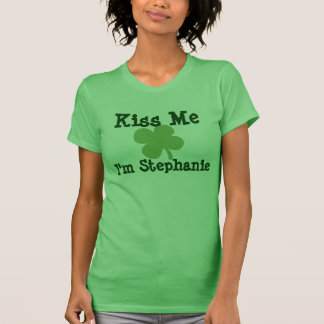 Personalized Name Kiss Me St. Patrick's Day Ladies T-Shirt