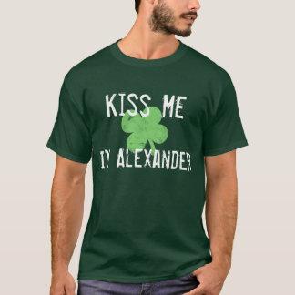 Personalized Name Kiss Me St. Patrick's Day Men's T-Shirt