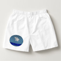 Personalized name koala bear blue stripes boxers