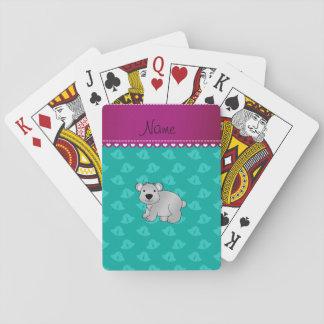 Personalized name koala bear green bells card decks