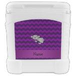 Personalized name koala purple chevrons igloo roller cooler