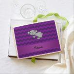 Personalized name koala purple chevrons jumbo cookie