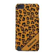 Personalized name  Leopard Print Pattern V2 iPod Touch (5th Generation) Cover