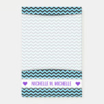[ Thumbnail: Personalized Name; Light Blue & Black Wave Pattern Notes ]