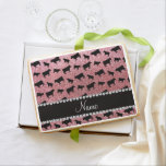 Personalized name light pink glitter cows jumbo cookie