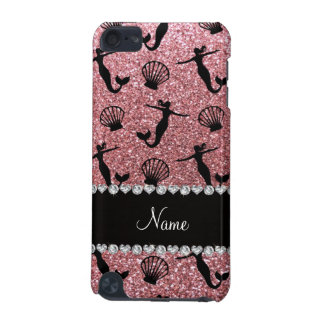 Personalized name light pink glitter mermaids iPod touch (5th generation) case