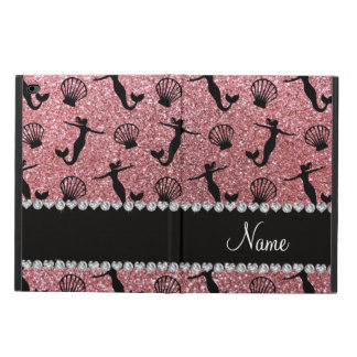 Personalized name light pink glitter mermaids powis iPad air 2 case
