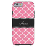 Personalized name light pink moroccan tough iPhone 6 case