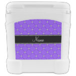 Personalized name Light purple tuft diamonds Igloo Roller Cooler