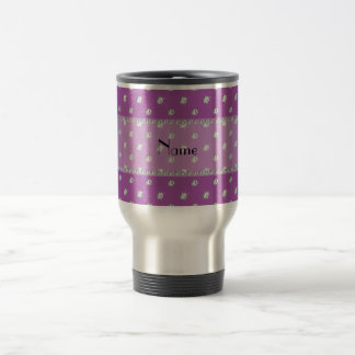 Personalized name lilac purple diamonds mugs