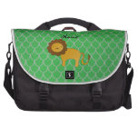 Personalized name lion green dragon scales laptop bags