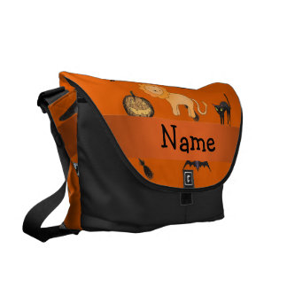 Personalized name lion halloween pattern courier bag