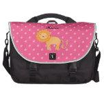 Personalized name lion pink diamonds computer bag