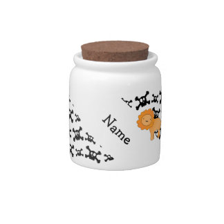 Personalized name lion skulls pattern candy dishes