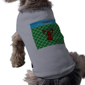 Personalized name lobster green moroccan pet clothing