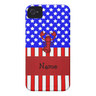 Personalized name lobster patriotic iPhone 4 cover