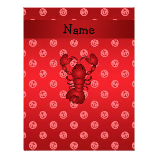 Personalized name lobster red anchor polka dots personalized letterhead