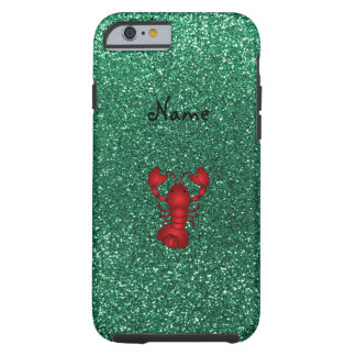 Personalized name lobster red mint green glitter tough iPhone 6 case