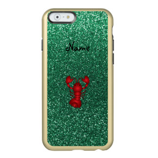 Personalized name lobster red mint green glitter incipio feather® shine iPhone 6 case