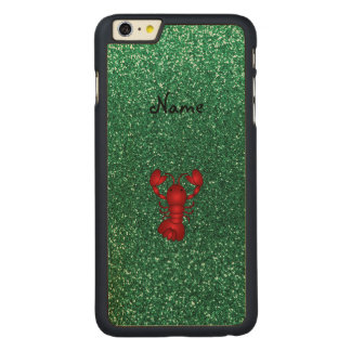 Personalized name lobster red mint green glitter carved® maple iPhone 6 plus slim case