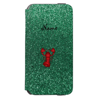 Personalized name lobster red mint green glitter incipio watson™ iPhone 6 wallet case