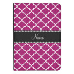 Personalized name magenta moroccan kindle 4 cover